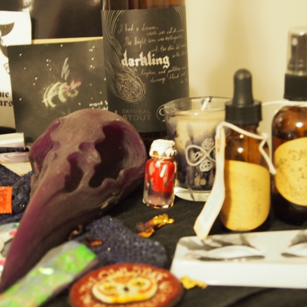 a snippet of the going out altar